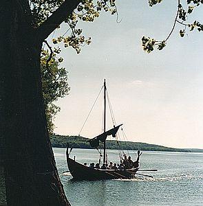 Slavenboot auf dem Tollensesee