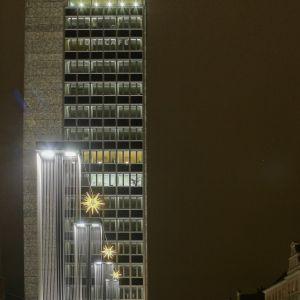Neubrandenburg bei Nacht